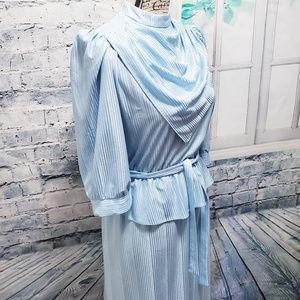 Vintage Lucky Barbara Light Blue Shimmery Dress
